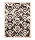 Hero Arts Wood Mounted Rubber Stamp-Wave Pattern Background