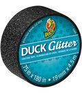 Duck Glitter Mini Tape .75\u0022x15`-Black