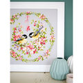 Vervaco Counted Cross Stitch Kit 16.5\u0027\u0027X16.5\u0027\u0027-Birds In Flower Wreath
