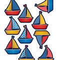Sailboats Accents 30/pk, Set Of 6 Packs