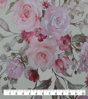 Casa Embellish Dahlia Organza Fabric-Novelle Peach Floral Print