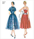 Simplicity Pattern 8252 Misses\u0027 1950s Dress & Redingote-Size D5 (4-12)