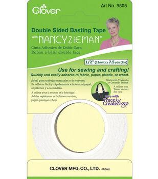 """Clover Nancy Zieman Double Sided Basting Tape-1/2""""W x 7-1/2yds"""