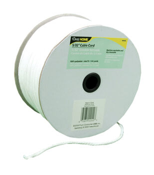 """5/32""""x144yd Cable Cord-White"""