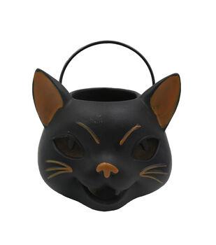Maker's Halloween Large Cat Tabletop Decor-Black