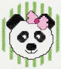 Bucilla My 1st Mini Counted Cross Stitch Kit Panda