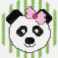Bucilla My 1st Mini Counted Cross Stitch Kit Panda