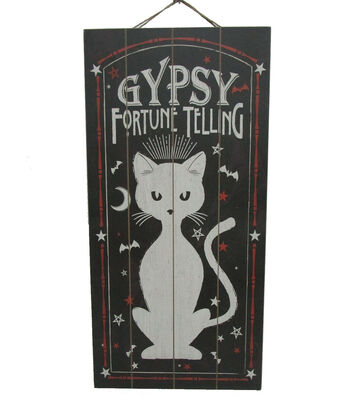 Maker's Halloween Wall Decor-Gypsy Fortune Telling Cat