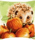 Vervaco 16\u0027\u0027x16\u0027\u0027 Cushion Counted Cross Stitch Kit-Hedgehog with Apples