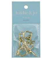 hildie & jo 4 Pack Open Square Gold Clasps, , hi-res
