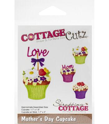 "CottageCutz Die-Mother's Day Cupcake 1.7"" To 3"""