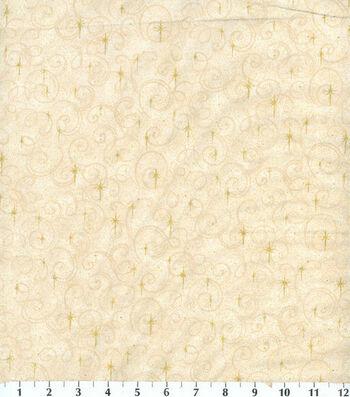 Holiday Cotton Fabric -Glitter Snowflake