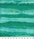 Batik Cotton Fabric 44\u0022-Tonal Stripes Aqua