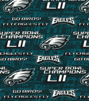 Philadelphia Eagles Cotton Fabric -Fly Eagles Fly, , hi-res