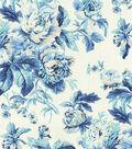 Waverly Upholstery 8x8 Fabric Swatch-Flueretta/Bluejay