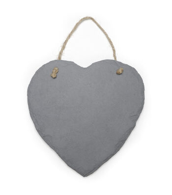 Darice 9''x9'' Slate Heart Plaque with Jute Hanger