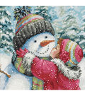Gold Collection Petite A Kiss For Snowman Counted Cross Stitch Kit