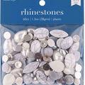hildie & jo 60 pk 1.3 oz. Assorted Plastic Flat Back Rhinestones-Marble