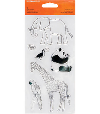 Fiskars Clear Stamps-Day At The Zoo