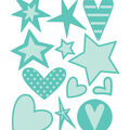 Cricut Cuttlebug Stars & Hearts Cut & Emboss Die Set