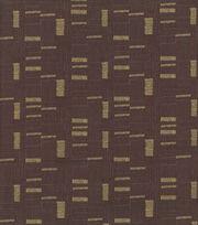 Keepsake Calico Cotton Fabric 43''-Brown & Metallic Mini Square Lines, , hi-res