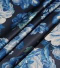 Casa Embellish Gardinia Satin Print Fabric 57\u0027\u0027-Dazzling Blue Floral