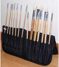 Just Stow It Zippered Easel Back Brush Case 7.25\u0022X7.25\u0022-Black