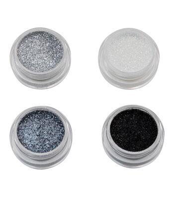 Maker's Halloween Metallic Glitter Makeup Set-Black & Silver