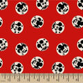 Disney Mickey Mouse Cotton Fabric -Mickey & Minnie Badges