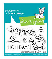 "Lawn Fawn Clear Stamps 3""X2""-Winter Penguin, , hi-res"