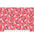 Nursery Flannel Fabric 42\u0027\u0027-Bright Small Floral