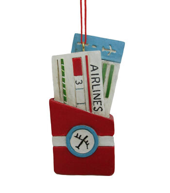 Maker's Holiday Christmas Airline Tickets Ornament