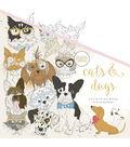 KaiserColour Perfect Bound Coloring Book 9.75\u0022X9.75\u0022-Cats & Dogs