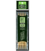 "Takumi Bamboo Double Point Knitting Needles 7"" 5/Pkg-Size 11/8mm, , hi-res"