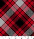 Snuggle Flannel Fabric -Annie Plaid Red