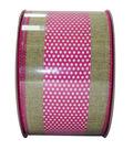 Decorative Ribbon 2.5\u0027\u0027 X 15\u0027-Pink Dot Stripe