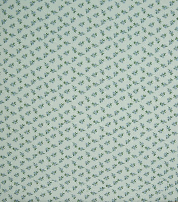 """Silky Stretch Crepe Fabric 57""""-Blue Ditsy Floral"""