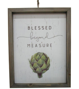 Simply Autumn Wall Decor-Blessed Beyond Measure & Artichoke