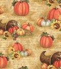 Harvest Cotton Fabric 43\u0022-Horn Of Plenty