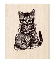 Inkadinkado Kitty And Yarn Stamp, , hi-res