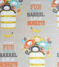 Snuggle Flannel Fabric 42\u0022-Barrel Full Of Monkeys