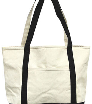 Mark Richards Extra Heavy Natural Boat Bag with Black Trim