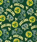Oakland Athletics Cotton Fabric 44\u0027\u0027-Green Cooperstown