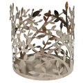 Hudson 43 Leaves Candle Sleeve-Silver
