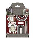 Santoro Gorjuss Tweed Rubber Stamps-Holly