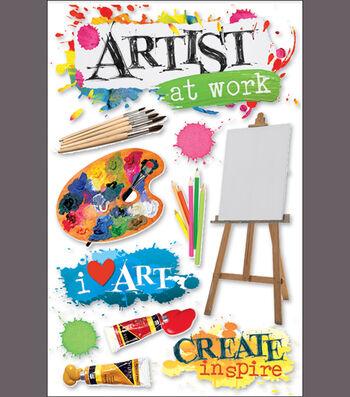 Paper House 3-D Sticker-Art Class