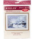 RIOLIS 15\u0027\u0027x10.25\u0027\u0027 Counted Cross Stitch Kit-Russian Winter