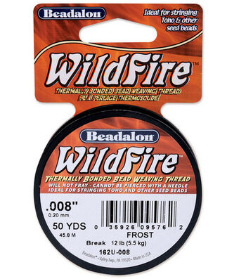 "Wildfire Stringing Wire .008"" (0.20mm) Dia. 50yds/Spool-Frost"