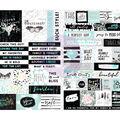 Flirty Fleur Stickers 4.1\u0022X8.3\u0022 2/Pkg-Words & Quotes W/Foil Accents
