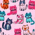 Snuggle Flannel Fabric-Blushing Kitties